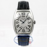 Franck Muller Stainless Steel Curvex Silver Arabic Numeral Dial Watch 6850SC Beverly Hills Watch Company Watches