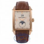 Girard Perregaux Vintage 1945 Large Moon Phase Rose Gold Brown Crocodile Strap 25800.0.52.851.BA6D 753DK0 - Beverly Hills Watch Store