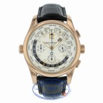 Girard Perregaux Worldwide Time Control 43mm 18k Rose Gold White Dial 49800-0-52-1041 HH8XKH - Beverly HillsWatch Company