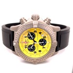 Breitling Avenger M1 Chronograph 44mm Titanium Yellow Dial E7336009/I503 H3Q98Z - Beverly Hills Watch Company