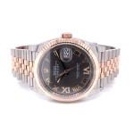 Rolex Datejust 36mm Steel and Everose Rhodium Roman Diamond Dial 126234 HLNH0Q - Beverly Hills Watch Company