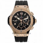 Hublot Big Bang Evolution Chronograph 44MM 18k Rose Gold Black Dial Black Rubber Strap 301.PX.130.RX 41UTQD - Beverly Hills Watch Company Watch Store