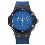Hublot Big Bang Tutti Frutti Dark Blue 41MM Black Ceramic Case Sapphire 18k White Gold PVD Bezel Blue Dial Blue Strap 341.CL.5190.LR.1901 CZFJ14 - Beverly Hills Watch Company Watch Store