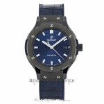 Hublot Classic Fusion 38mm Ceramic Blue Sunray Dial 565.CM.7170.LR WHW804 - Beverly Hills Watch