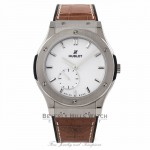 Hublot Classic Fusion 45MM Titanium White Dial 515.NX.2210.LR HI25MJ - Beverly Hills Watch Company Watch Store