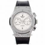 Hublot Classic Fusion Chronograph 45MM Titanium Opaline Dial 521.NX.2610.LR M7LL1R - Beverly Hills Watch Company Watch Store