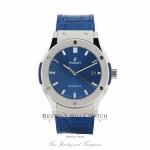 Hublot Classic Fusion 45mm Titanium Blue Dial 511.nx.7170.lr ZHTEAH