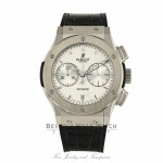 Hublot Classic Fusion Chronograph 45MM Titanium Silver Dial 521.NX.2610.LR 509390 - Beverly Hills Watch Company