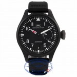 IWC Big Pilot Top Gun 48MM Black Ceramic Titanium Case 7 Day Power Reserve IW501901 3C91YH - Beverly Hills Watch Company Watch Store