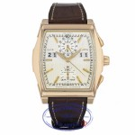 IWC Da Vinci Silver Dial Brown Leather 18k Rose Gold Chronograph IW376107 PWD5LT - Beverly Hills Watch
