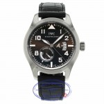 IWC Pilot 42mm Antoine de Saint-Exupery 18k White Gold Brown Dial IW320102 DT17FH - Beverly Hills Watch Company