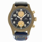 "IWC Pilot Automatic Chronograph 46mm Brown Ceramic ""Last Flight"" IW388006 JLKWKM - Beverly Hills Watch"