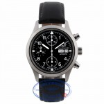 IWC Pilot Chronograph 39mm Black Dial Stainless Steel on Strap IW3706 D64FX6 - Beverly Hills Watch Company