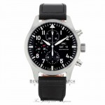 IWC Pilot Chrono Day-Date 43mm Automatic Stainless Steel Black Dial IW377709 TTQPD8 - Beverly Hills Watch Company