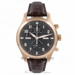 IWC Pilot Spitfire Perpetual Calendar Digital Date Month Rose Gold Watch IW379103 Beverly Hills Watch Company Watches