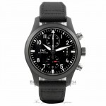 IWC Pilot Top Gun 46mm Chronograph Black Dial Black Fabric IW388007 F5R64R - Beverly Hills Watch Company