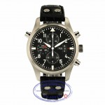 IWC Pilot Double Chronograph 46MM Stainless Steel IW377801 HVVYH8 - Beverly Hills Watch Store