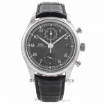 IWC Portuguese Chronograph Classic 42MM Stainless Steel Grey Dial IW390404 7JA3Y2 - Beverly Hills Watch Company Watch Store