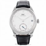 IWC Portuguese Hand-Wound 43MM 8 Day Power Reserve Silver Dial IW510203 NW5MZ1 - Beverly Hills Watch Company Watch Store