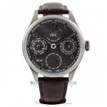 IWC Portuguese Perpetual 44mm White gold Grey Dial IW502307 32JLQ2 - Beverly Hills Watch Company
