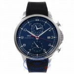 IWC Portuguese Yacht Club Chronograph 45MM Blue Dial IW390213 CMELDZ - Beverly Hills Watch Company Watch Store