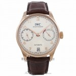 IWC Portugieser 18k Rose Gold Ivory Dial 42MM Automatic Alligator Strap IW500701 7DYPHN - Beverly Hills Watch Company Watch Store