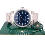 Rolex Oyster Perpetual 41mm Stainless Steel Blue Dial 124300 J1N12R - Beverly Hills Watch Company