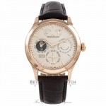 Jaeger LeCoultre Master 8 Days Perpetual 40MM  18k Rose Gold Q1612420 XISC2Z - Beverly Hills Watch Company Watch Store
