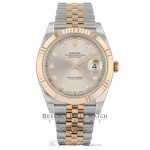 Rolex Datejust 41mm Sundust Diamond Dial Steel and 18 Everose Gold Jubilee 126331 HQDL6R - Beverly Hills Watch Company