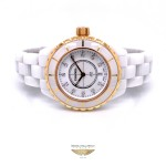 Chanel J12 33mm Rose Gold and White Ceramic Diamond Dial H2128 JTX4ME