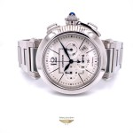 Cartier Pasha 42mm Stainless Steel Chronograph Watch W31085M7 KJJCXH - Beverly Hills Watch Store