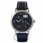 A. Lange & Sohne Grand Lange 1 Black Dial 18k White Gold 117.028 - Beverly Hills Watch Company Watch Store