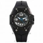 Linde Werdelin Oktopus II Moon Black 44MM Titanium & Ceramic Black Strap Black Rubber Strap OKT II.BMB1 RDUAQT - Beverly Hills Watch Store
