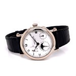Patek Philippe 18k White Gold 36MM Moon Phase Power Reserve 5054G LUD73H - Beverly Hills Watch Company