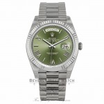 Rolex Day-Date Automatic 18 Carat White Gold President 228239OGRP MW6ZLP - Beverly Hills Watch