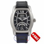 Maurice Lacroix Jours Retrograde Tonneau Masterpiece Stainless Steel Black Dial Black Strap MP6119-SS002-31E 15406 - Beverly Hills Watch Company Watch Store