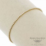 18K Yellow Gold Diamond Tennis Diamonds Bracelet 37627B 5N603Y - Beverly Hills Watch