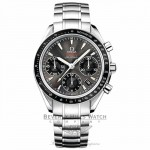 Omega Speedmaster Date 40mm Stainless Steel Bracelet Grey Dial Automatic Chronograph Watch 323.30.40.40.06.001 Beverly Hills Watch Company Watch Store
