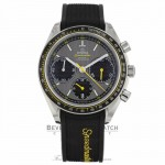 Omega Speedmaster Racing 40mm Stainless Steel Case Rubber Strap Grey Dial Chronograph Watch 326.32.40.50.06.001 19CKC0 - Beverly Hills Watch Company