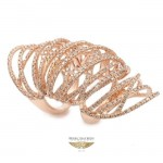 Naira & C Rose Gold and Brown Diamond Knuckle Ring P1LU0C - Beverly Hills Watch Company