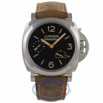 Panerai Historic Luminor 1950 3 Days Power Reserve 47MM Stainless Steel Brown Calfskin Strap PAM00423 YNL160 - Beverly Hills Watch Company Watch Store