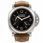 Panerai Historic Luminor 1950 3 Days Power Reserve 47MM Stainless Steel Brown Calfskin Strap PAM00423 CMPMVE - Beverly Hills Watch Company Watch Store