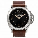 Panerai Historic Luminor 1950 3 Day Power Reserve 47MM Stainless Steel Black Dial Manual Winding PAM00372 DDWGT6 - Beverly Hills Watch Company Watch Store