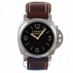 Panerai 47mm Stainless Steel Case Dirty Brown Dial Gold Hands Manual Wind Domed Acrylic Crystal Watch PAM00372 - 03QL5L - Beverly Hills Watch Company Watch Store
