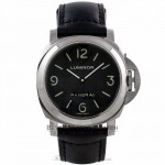 Panerai Luminor 44MM Manual Wind Stainless Steel Black Dial PAM00112 8H4M67 - Beverly Hills Watch Company