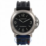 Panerai Luminor Base 44MM Titanium Black Dial Black Rubber Strap PAM00176 8LYV3K - Beverly Hills Watch Store