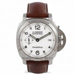 Panerai Luminor Marina 1950 42MM Stainless Steel White Dial 72 hour Power Reserve PAM00523 XW8V47 - Beverly Hills Watch Company Watch Store