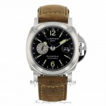 Panerai Luminor GMT 44mm Stainless Steel Black Dial PAM1088 RMRV9C - Beverly Hills Watch