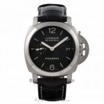 Panerai Luminor Marina 1950 Stainless Steel Case Black Crocodile Strap 42MM Automatic P9000 Movement PAM00392 KC5M4F - Beverly Hills Watch Company Watch Store