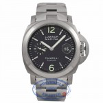 Panerai PAM00091 Luminor Marina Titanium Stainless Steel 44mm Case Anthracite Dial Bracelet PAM00091 U29QH6 - Beverly Hills Watch Company Watch Store